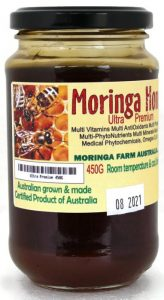 Moringa farm australia Moringa raw Ultra Premium honey 450g